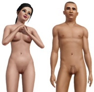 The Sims 3 Nude Skins (shaven) Addon